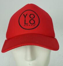 YOLO Boards Hat Red/White Hat  Adjustable Snapback