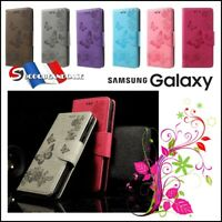 Etui coque housse Papillons PU Leather case cover Samsung Galaxy All models Film