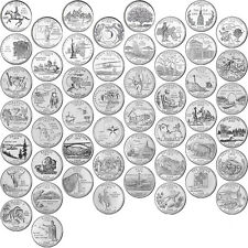 US 50 STATE QUARTER (25C)COMPLETE SET 1999 - 2008 UNCIRCULATED D mint coins