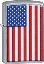 Zippo American Flag Beautiful Brilliant Street Chrome Windproof Lighter 29722