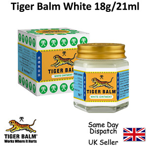 2 x Original White TIGER BALM For Fast Effective Pain Relief 18g UK 21ml