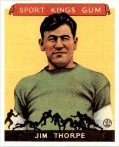 Jim Thorpe 1933 Goudey Sport Kings Gomme Football Carte #6 Réédition