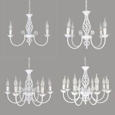 3 4 6 8 Light white candelabra bulb chandelier for living dining room island