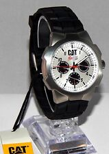Caterpillar R114921231 Mens CAT Racing White Rubber multi Analog date/day Watch