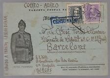 1938 Burgos Spain San Pedro Padrones Concentration camp postcard cover