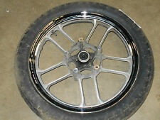 honda vt700c shadow 700 vt700 front rim wheel tire chrome vt750 1985 83 84 85