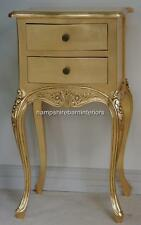 Ornate Two Drawer lamp table or bed side table Gold leaf mahogany  Free Delivery