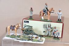 BRITAINS 17534 AMERICAN CIVIL WAR CONFEDERATE DOUBLE CANISTER CANNON SET nv