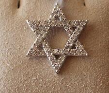 Diamond Star of David Pendant - Approx. .79 cts.,14k. White Gold