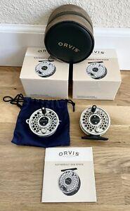 Very Nice ORVIS Battenkill BBS II Titanium Fishing Reel w/ Extra Spool & Boxes