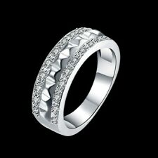 Circle Rings For Women R817 Fashion 925Sterling Solid Silver Jewelry Crystal