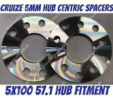 2 x 5MM Hubcentric Wheel Distanziatori Nero diretto foro 4X100 57.1 centro spacer shim