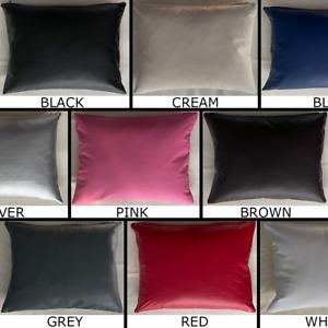 PVC Faux Leather Rectangle Cushion Cover Handmade Pillow Case Sofa Home Decor