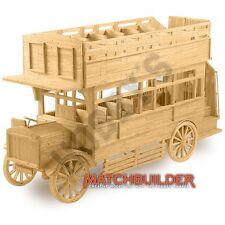 Hobby's Matchbuilder MK6103 1920's Veteran Omnibus Matchstick Bus Kit T48 Post