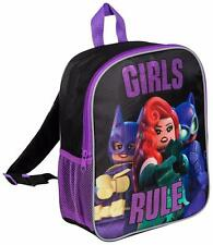 THE LEGO BATMAN MOVIE 'GIRLS RULE' KIDS JUNIOR BACKPACK SCHOOL BAG OFFICIAL 8039