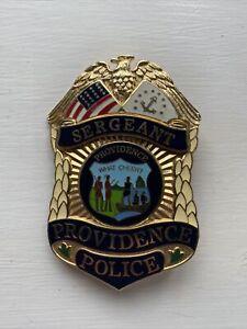 Providence Police Sergeant Badge, American US USA