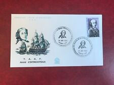TAAF FSAT FRENCH ANTARCTIC 1980 FDC ADMIRAL ANTOINE D'ENTRECASTEAUX 02