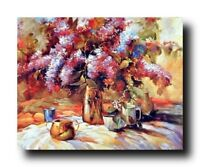 Flowers in Vase Floral Still Life Wall Decor Fine Art Print Poster (16x20)