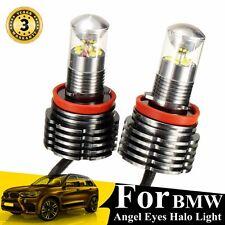 Pair 60W LED Angel Eyes Halo Light Bulb H8 For BMW E90 E92 E82 E70 X5 E71 X6 E89