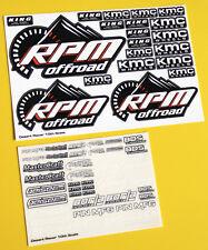 RC 10. Maßstab Kurzbahn Stadium Truck Sticker Aufkleber ideal für Traxxas Slash