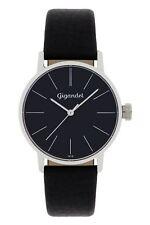 Uhr Armbanduhr Damenuhr Quarzuhr Gigandet G43-002 Schwarz Silber Lederband