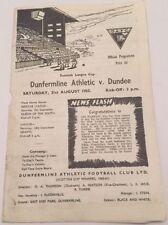 Past Domestic Leagues Dundee Teams C-E Football Programmes