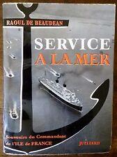 Bateaux : Service à la mer, Commandant de l'Ile de France, 1959