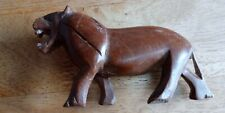 Standing carved wooden Big Cat  5 inches long