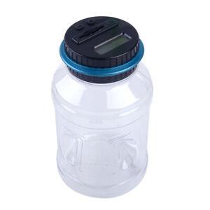 Digital Lcd Display Big Saving JAR Sorter Coin Counter Money Box Counts Coins~