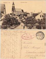 Kamenz Kamjenc Partie in der Pusnitzerstrasse Oberlausitz Ansichtskarte  1916