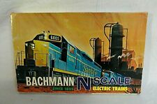 LOOK! 1970`S BACHMANN N SCALE F-9 DIESEL SANTA FE TRAIN SET NEVER USED IN BOX!
