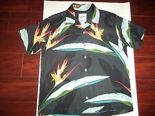 Guy Harvey 100 % Silk Mens Shirt Size Small With Tropical Flowers And Fish