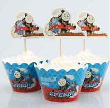 Cupcake Cup Decorating,Toppers Wrappers PARTY DECORATION, Thomas the tank engine