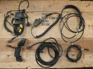 Clansman headset,handset,antenna leads.Pressel.7 pin lead.Spares or repairs.