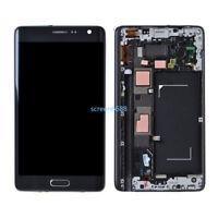 Pour Samsung Galaxy Note 4 Edge N915F écran LCD Vitre Tactile sur châssis Gris