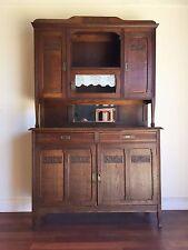 Antique French Art Deco Oak Dresser Buffet Sideboard Carved - ok142