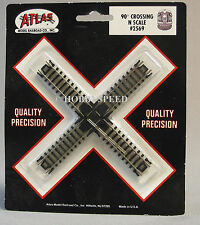 ATLAS N SCALE 90 DEGREE CROSSING SNAP TRACK black ties gauge train atl 2569 NEW