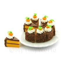 Dolls House Miniature Whole Sliced Chocolate Orange Cake