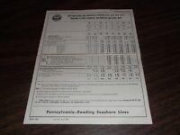 APRIL 1958 PRSL PENNSYLVANIA-READING SEASHORE LINES FORM 84 TIMETABLES