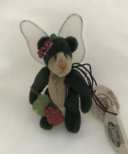 """COTTAGE COLLECTIBLES Miniatures By Ganz """"Berry Fairy"""" Vintage New"""