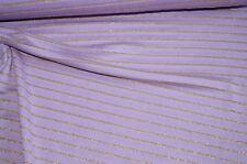 Strickstoff hell lila-flieder gestreift gold Maschenware #0473