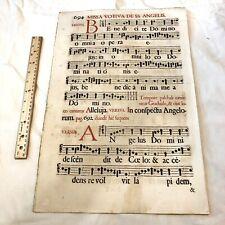 Huge 1671 Music Sheet Folio Leaf - France, Printed In Latin - Decor Display - A