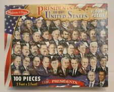 Melissa & Doug Presidents of the USA Floor Puzzle (100 pcs) New Sealed