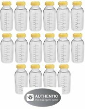 16 MEDELA BREASTMILK COLLECTION STORAGE FEEDING BOTTLES SET w/lid 8oz /250ml NEW