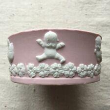 Antique Rose O'Neill Pink Jasperware Round Dish Bowl