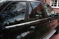 EDELSTAHL FENSTERLEISTEN CHROM für BMW X5 E53   BJ 1999-2006   6-tlg Set