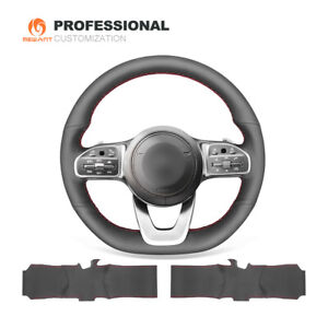 Genuine Leather Steering Wheel Cover for Benz W177 W205 C118 C257 W213 W463 H247