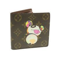 LOUIS VUITTON Monogram Panda Portefeiulle Marco Wallet M61666 LV Auth ki566