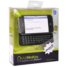 NUU K1 iPhone Case + 42-Key MiniKey Bluetooth Slide-Out Keyboard for iPhone 4/4S