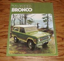 1976 Ford Bronco Foldout Sales Brochure 76